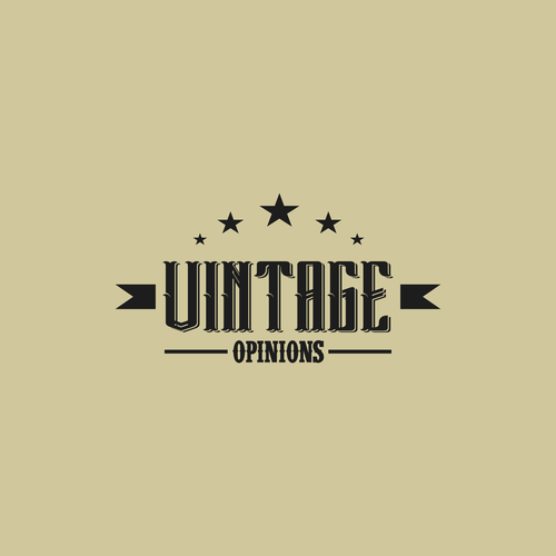 logo for vintage opinion
