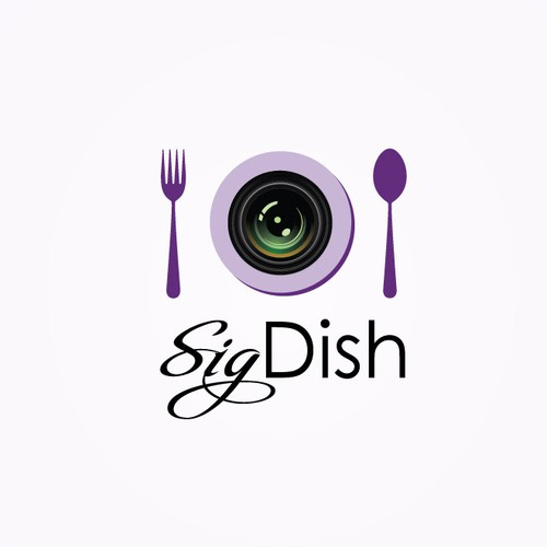 A logo for a food app for mobile