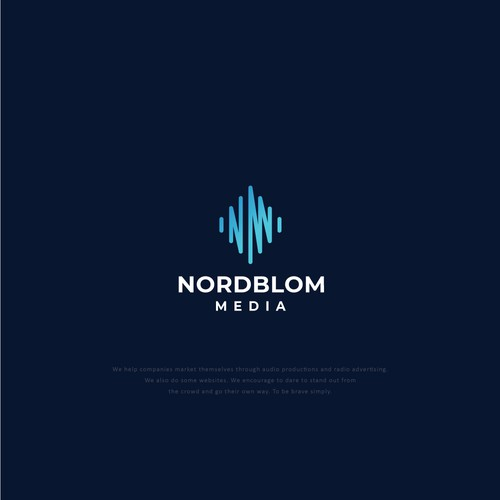 Unique logotype for advertising agency