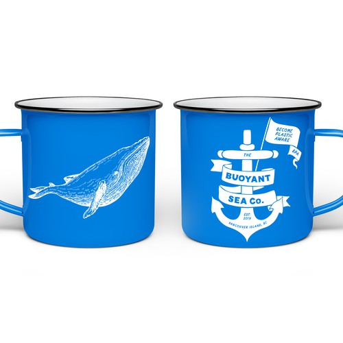 'Buoyant Sea Co' branded mugs