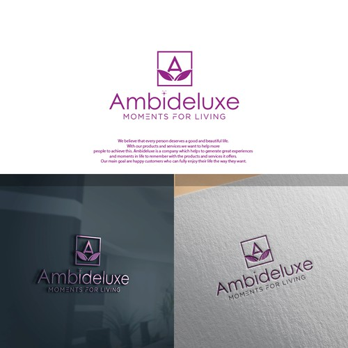 HELP US! Ambideluxe - moments for living (LOGO needed)