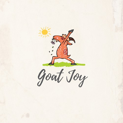Bold logo for Yoga with goats