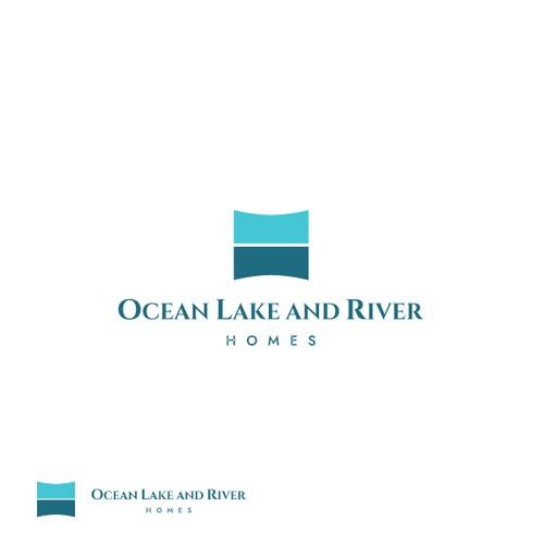 Ocean Lake and River Homes - Logo design