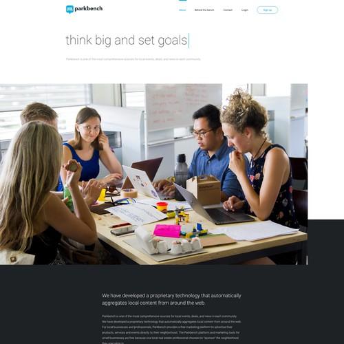 Website Design for Parkbench