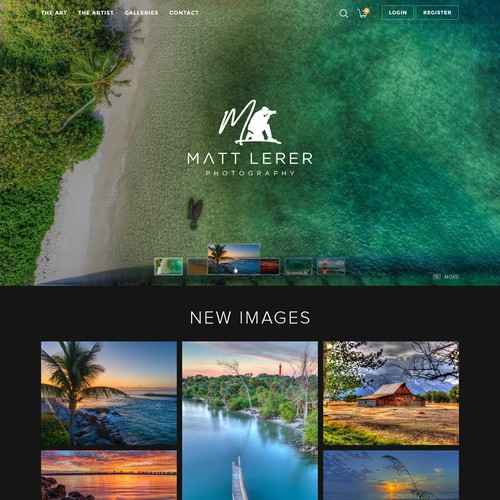Clean elegant website design for a high end photography website