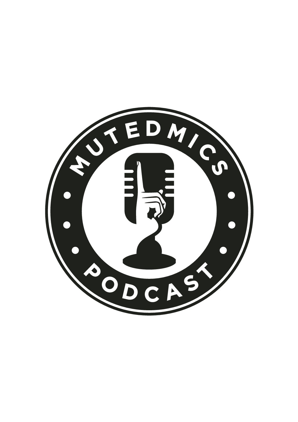 Design a logo for the MutedMics podcast. A podcast that gives a voice to the voiceless.