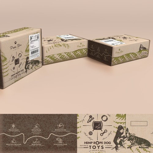 Branding packaging with a natural feel (box shipping friendly)