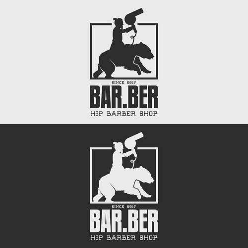 Illustrative logo for a barber shop