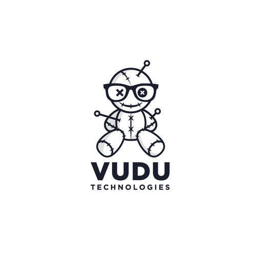 Bold fun logo for Vudu Technologies