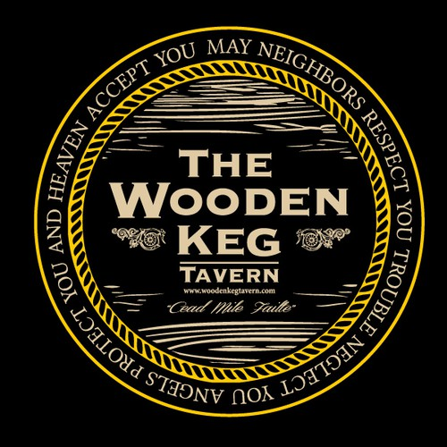 Bar logo wood grain