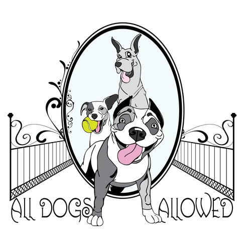 Create a French-Victorian logo for a doggy training center and boutique!