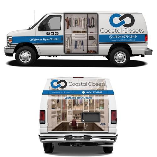 Custom closet company looking for a van wrap design