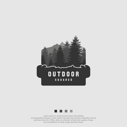 Outdoor Squared logo Design