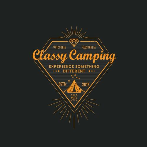 Classy Camping logo for a damn classy designer!