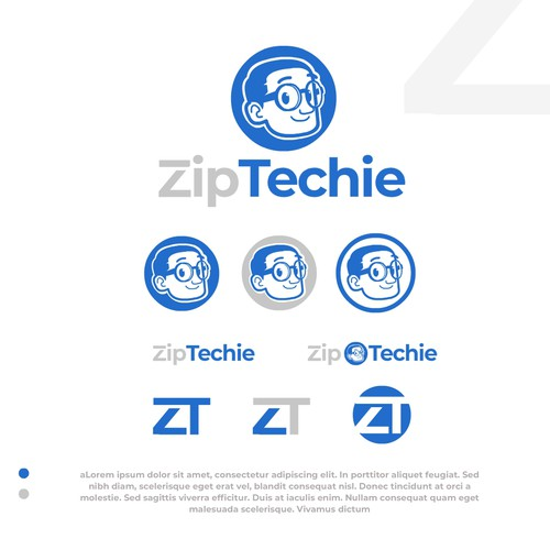 Zip Techie Mascot logo.