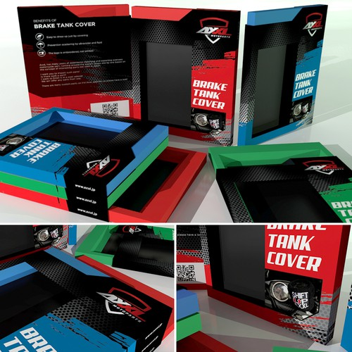 Packaging Design for AXXL Brake Tank Cover