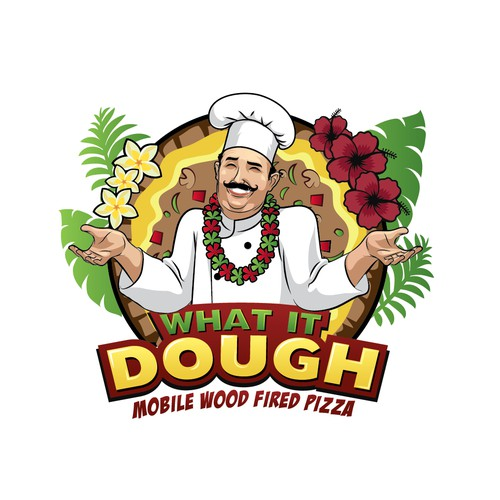 Logo for wood fired pizza