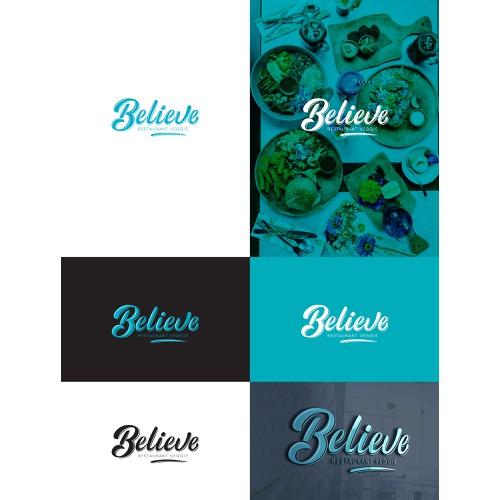Believe logo design