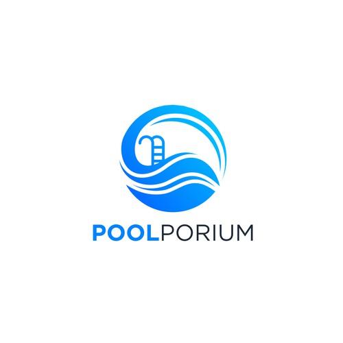 Pool abstract logo