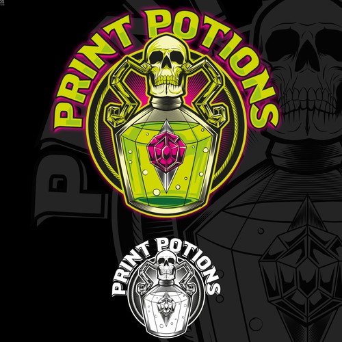 Print Potions Logo
