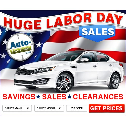 Labor Day ad for Exciting Automotive Company