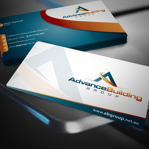 Amazing business cards Advance Building Group