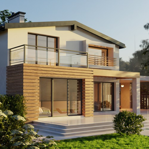 3D render of a residence