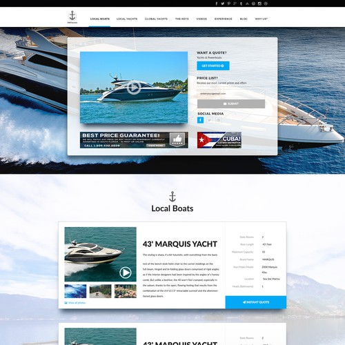 Website for Yacht Company