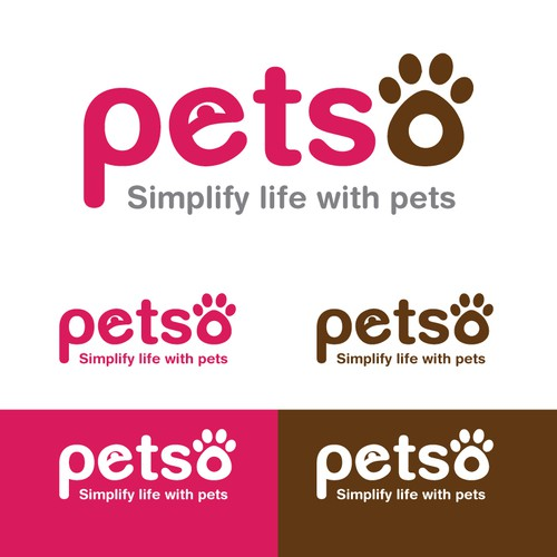 logo for a company who create pet solutions