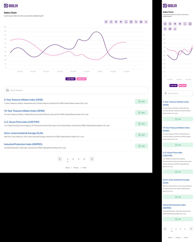 Data analytics web application landing page design