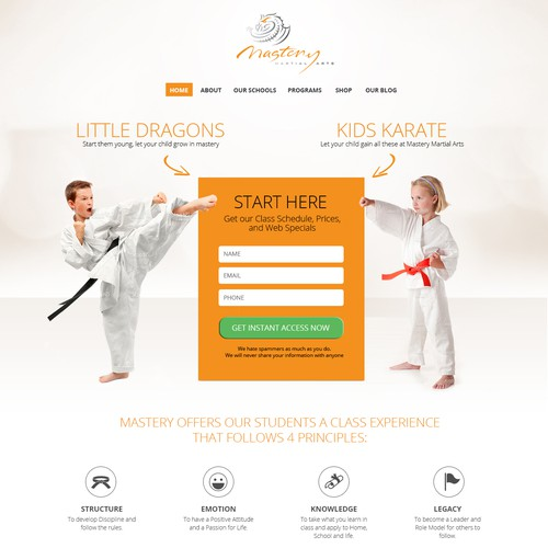 Entry for Mastery Martial Arts