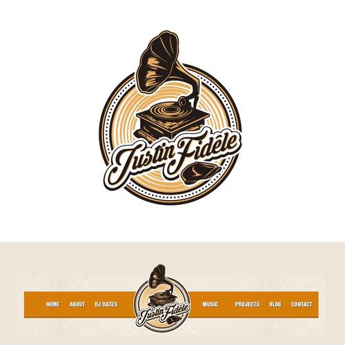 DJ Logo  Vintage with a modern twist