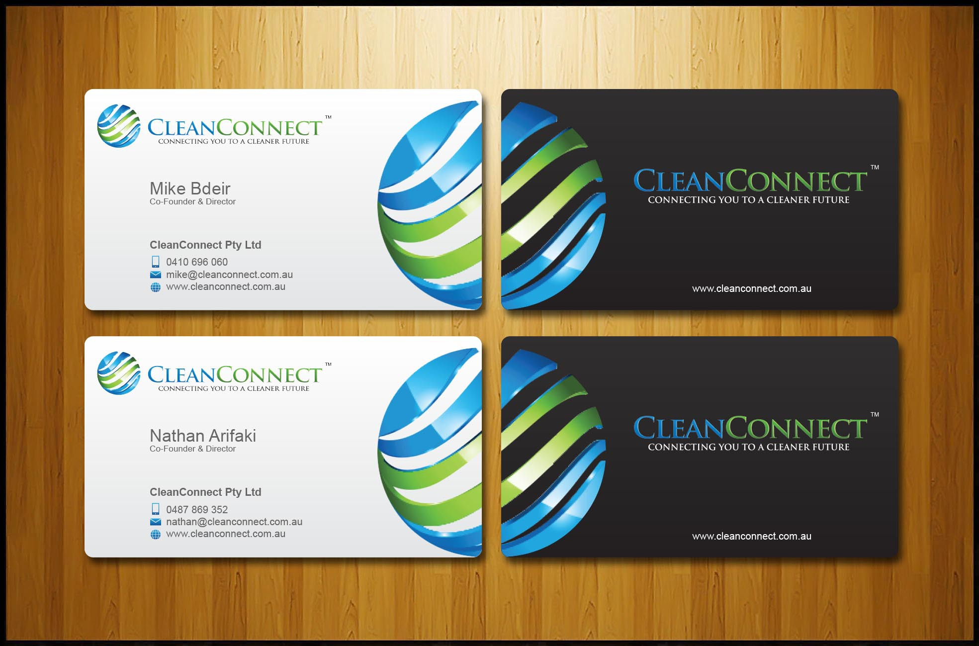 Create the first CleanConnect business card