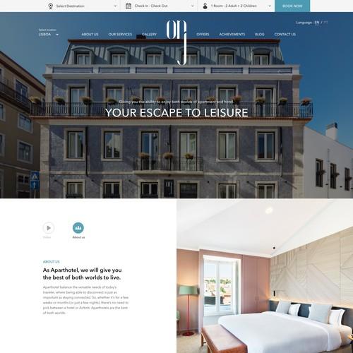 Website Design for OnJ Boutique Aparthotel