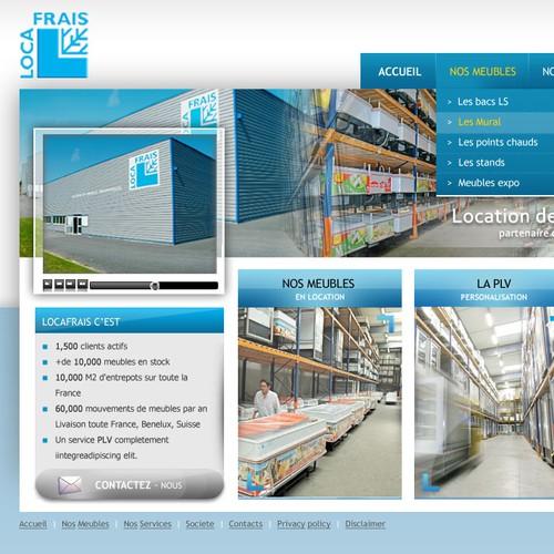 Web design for Loca Frais