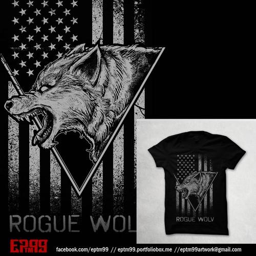 rogue wolv tshirt design