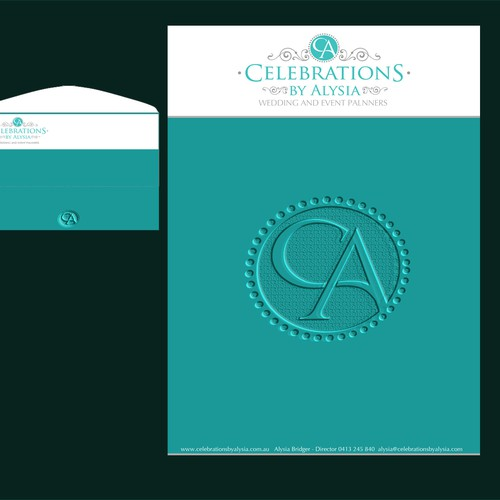 create stylish letterhead for wedding/event planner