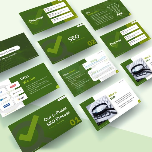 PowerPoint deck template for an SEO Consultancy