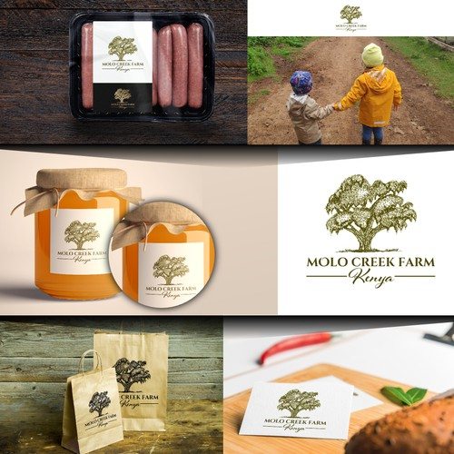 Logo for farm that produces artisanal, high end food and beverage products