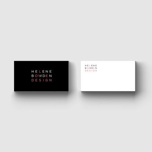 MINIMALIST logo design for an interior designer