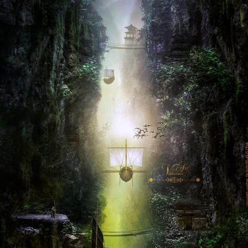 fantasy landscape - mystical, fairytale,
