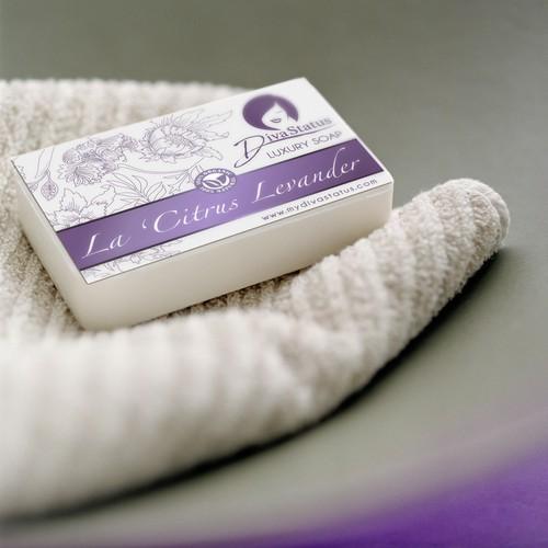 Soap label concept for Diva Status