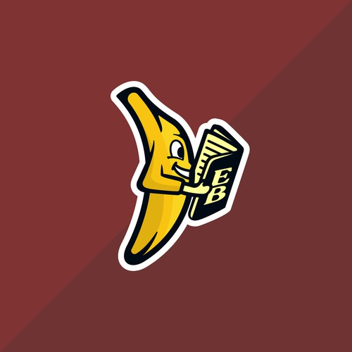 Banana with the book logo for client