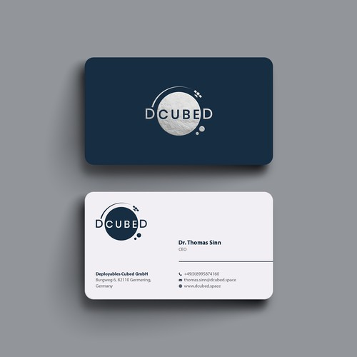 Clean Business card for DCUBED