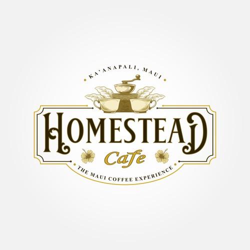"""Vintage logo concept for """"Homestead Cafe"""""""