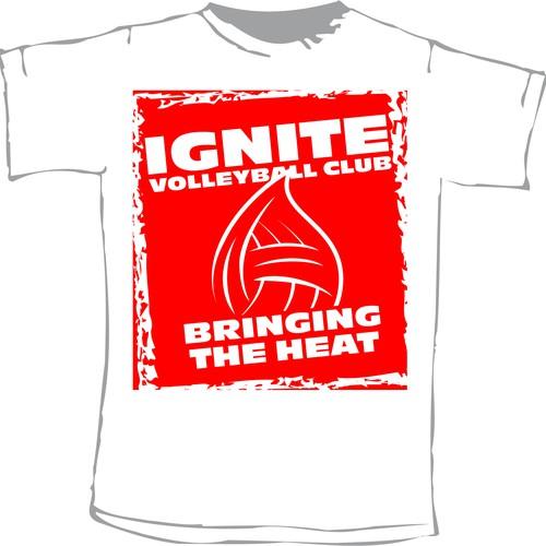 Ignite Volleyball Club - Flame ball shirt