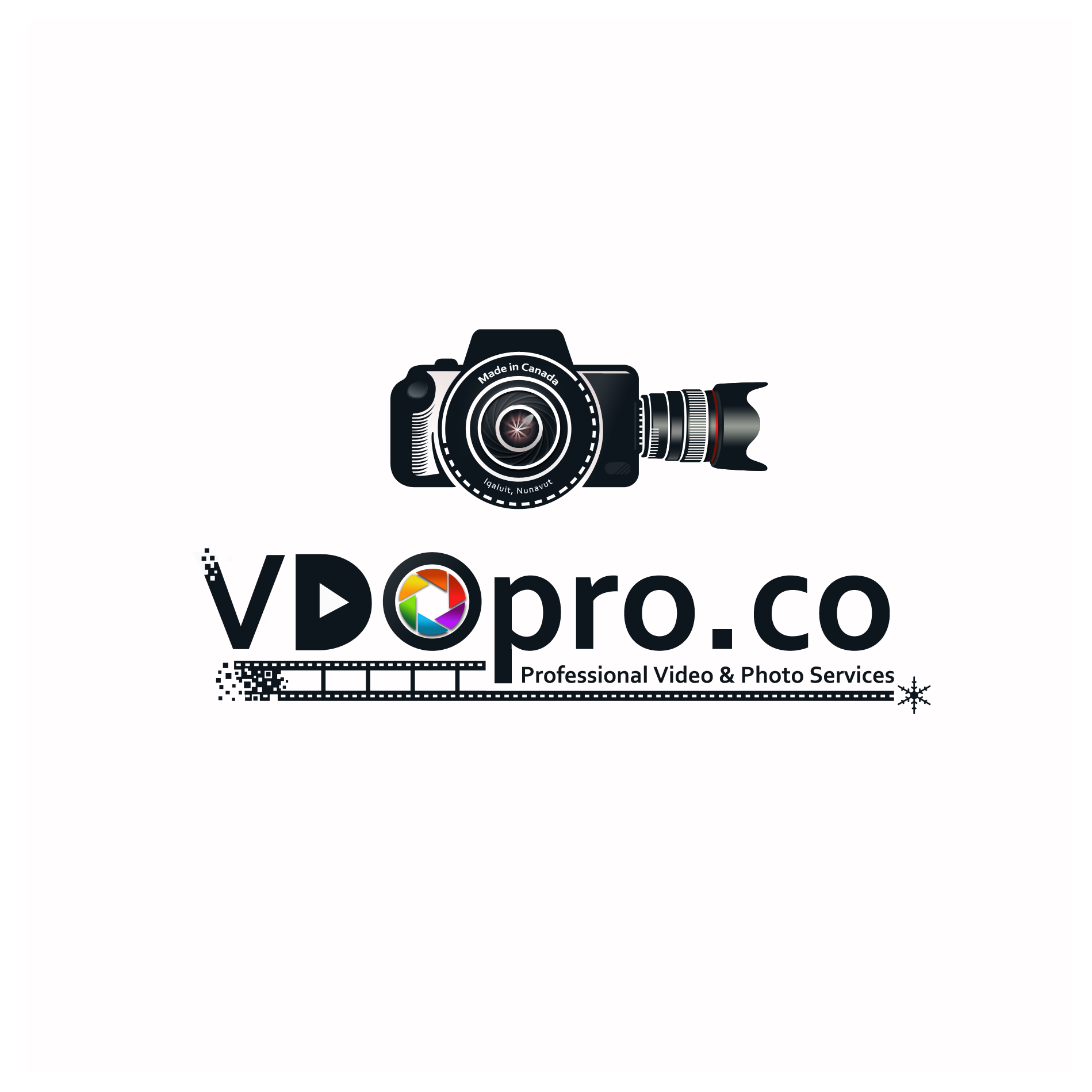 Design a logo for VDOpro: a video & photo production company