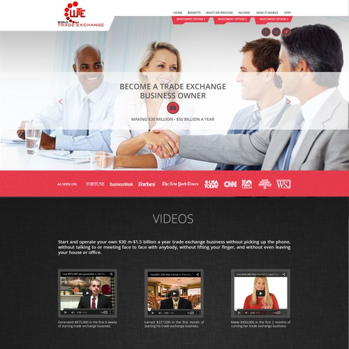 Design A World Class Investment Opportunity Website. OPEN TO ALLDESIGNERS!!!