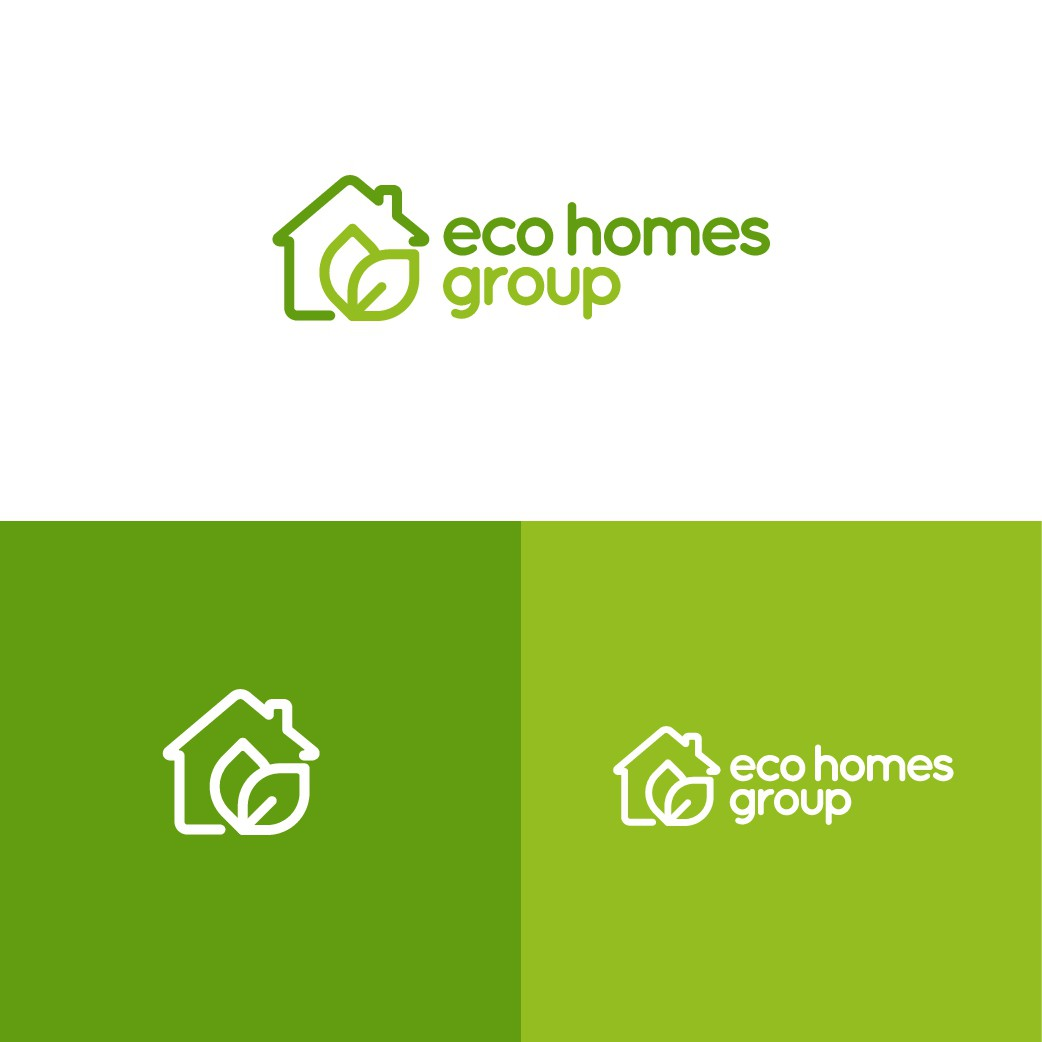 Create a logo for Eco Homes Group, a construction company