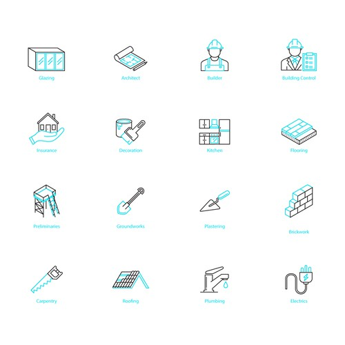 Line icons for Project Casa